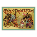 The Circus Procession ~ Vintage Circus Posters