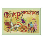 The Circus Procession ~ Vintage Circus Print