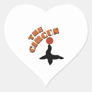 The Circus Seal Heart Sticker