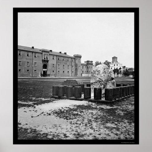 The Citadel in Charleston, SC 1865 Poster