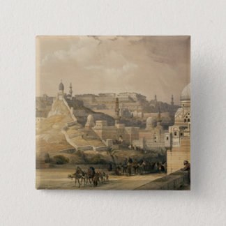 """The Citadel of Cairo, from """"Egypt and Nubia"""" 15 Cm Square Badge"""