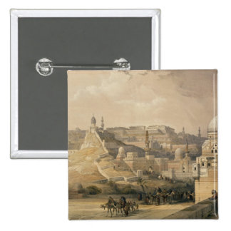 "The Citadel of Cairo, from ""Egypt and Nubia"" 15 Cm Square Badge"