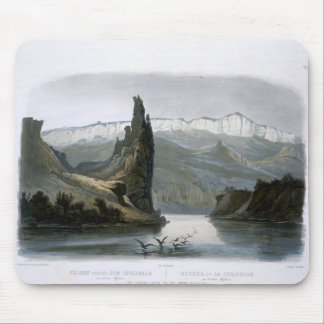The Citadel Rock on the Upper Missouri, plate 18 f Mouse Mat