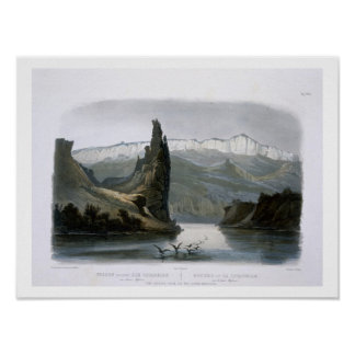 The Citadel Rock on the Upper Missouri, plate 18 f Poster