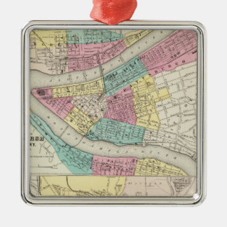 The Cities Of Pittsburgh Allegheny Cincinnati Christmas Ornament
