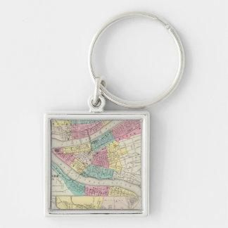 The Cities Of Pittsburgh Allegheny Cincinnati Key Ring