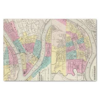The Cities Of Pittsburgh Allegheny Cincinnati Tissue Paper