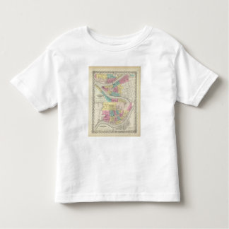 The Cities Of Pittsburgh Allegheny Cincinnati Toddler T-Shirt