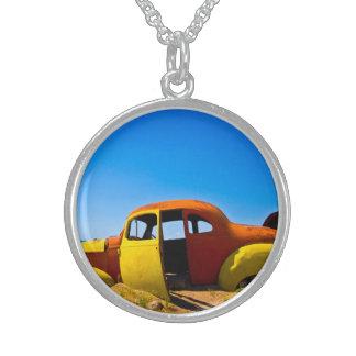 The Citrus Car a Vintage 1936 Hudson Orange Yellow Necklace