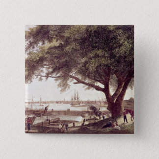 The City and Port of Philadelphia, from 15 Cm Square Badge