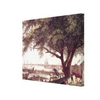 The City and Port of Philadelphia, from Canvas Print