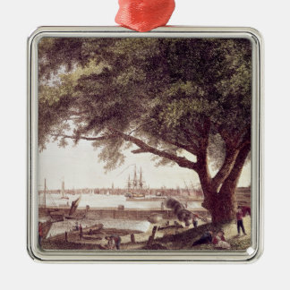 The City and Port of Philadelphia, from Christmas Ornament