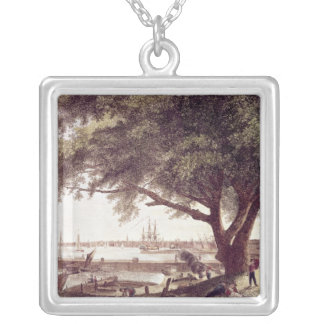 The City and Port of Philadelphia, from Silver Plated Necklace