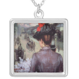 The City Atlas Silver Plated Necklace
