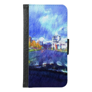 The city from a car samsung galaxy s6 wallet case