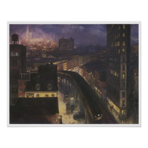 The city from Greenwich Village, John Sloan Poster