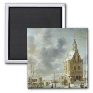 The City Gate of Hoorn Square Magnet