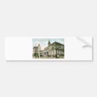 """The City Hall"" New York Bumper Sticker"