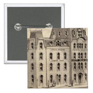 The City Hall of Minneapolis, Minnesota 15 Cm Square Badge
