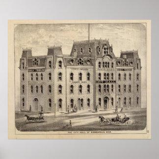 The City Hall of Minneapolis, Minnesota Poster