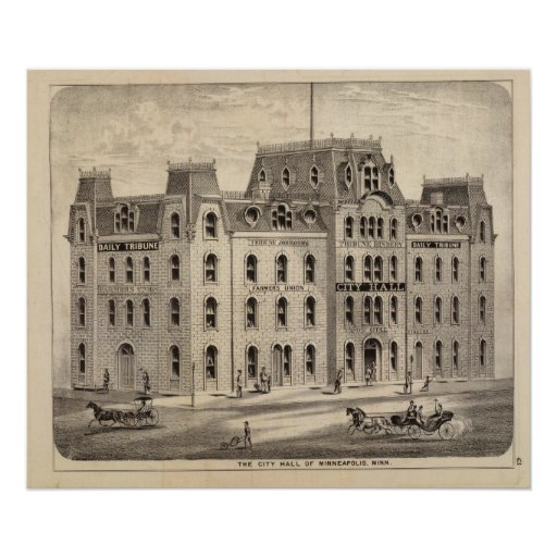 The City Hall of Minneapolis, Minnesota Posters