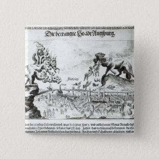 The City of Augsburg forced to accept Catholic 15 Cm Square Badge