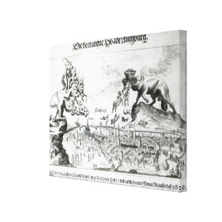 The City of Augsburg forced to accept Catholic Canvas Print