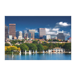 The city of Boston and Charles river Canvas Print