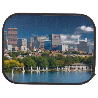 The city of Boston and Charles river Car Mat