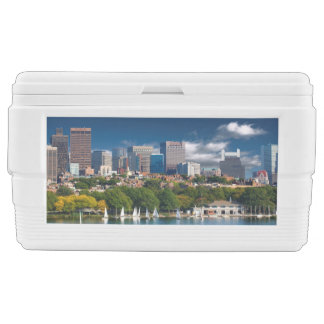 The city of Boston and Charles river Chest Cooler