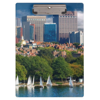 The city of Boston and Charles river Clipboard