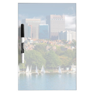 The city of Boston and Charles river Dry Erase Boards