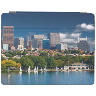 The city of Boston and Charles river iPad Cover