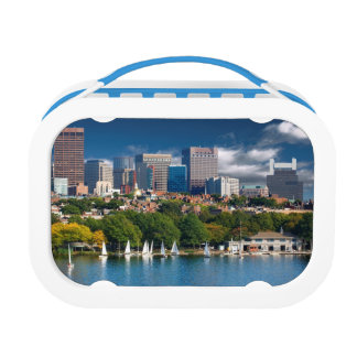 The city of Boston and Charles river Lunch Box