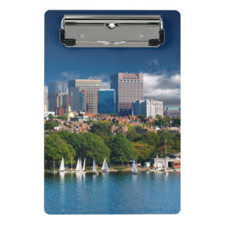 The city of Boston and Charles river Mini Clipboard