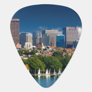 The city of Boston and Charles river Plectrum