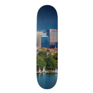 The city of Boston and Charles river Skateboard