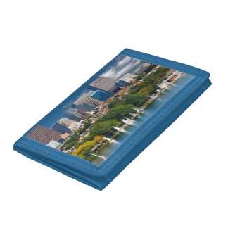 The city of Boston and Charles river Tri-fold Wallet