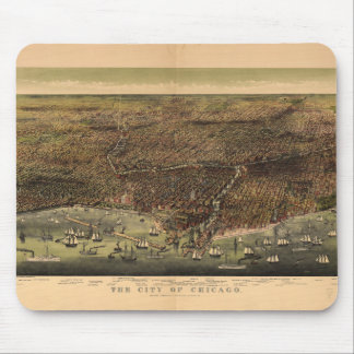 The City of Chicago by Ives (1892) Mouse Mat