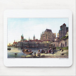 The City of Cologne, engraved by M.J. Starling Mouse Pad