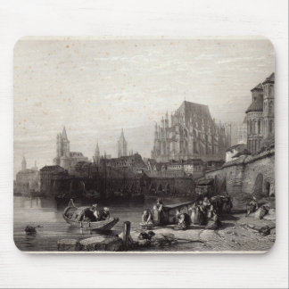 The City of Cologne, engraved by M.J. Sterling Mouse Pad