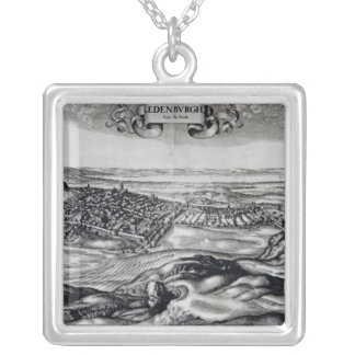 The City of Edinburgh from the South Silver Plated Necklace
