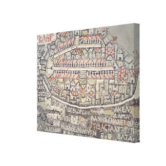 The City of Jerusalem and the surrounding area Canvas Print
