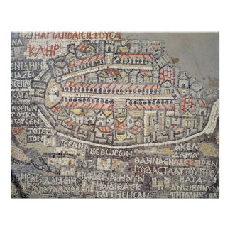 The City of Jerusalem and the surrounding area Perfect Poster