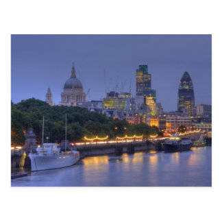 The City of London at dusk Post Cards