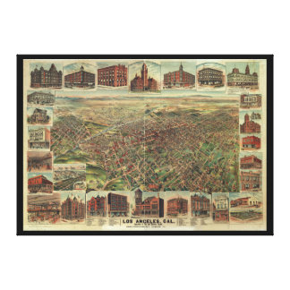The City of Los Angeles California in 1891 Stretched Canvas Print