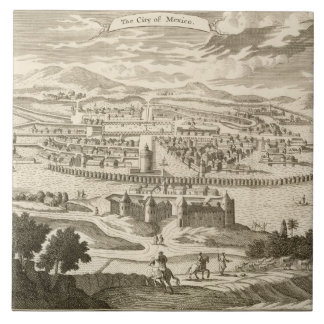 The City of Mexico, 1723 (engraving) Tile