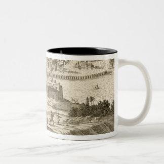The City of Mexico, 1723 (engraving) Two-Tone Coffee Mug