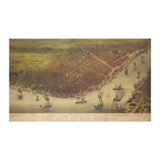 The City of New Orleans Louisiana from 1885 Canvas Print