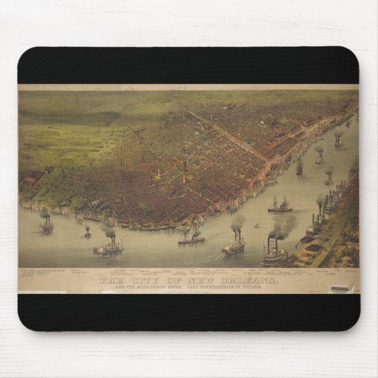 The City of New Orleans Louisiana from 1885 Mouse Mat